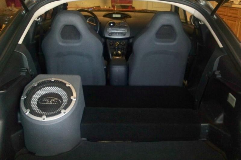 custom painted seatbacks and sub enclosure
